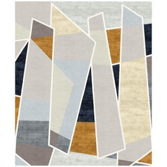 Galeries Lafayette Hand-Knotted Wool and Silk 9 x 12ft Rug