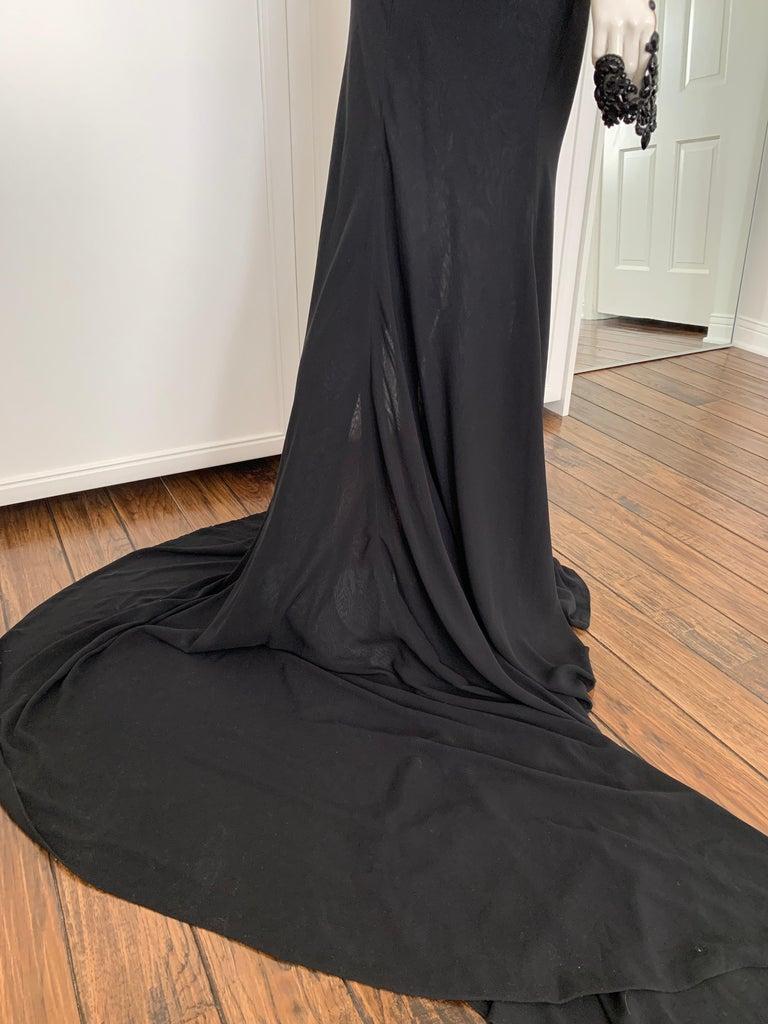 Women's Galia Lahav Haute Couture Black Beaded Gown