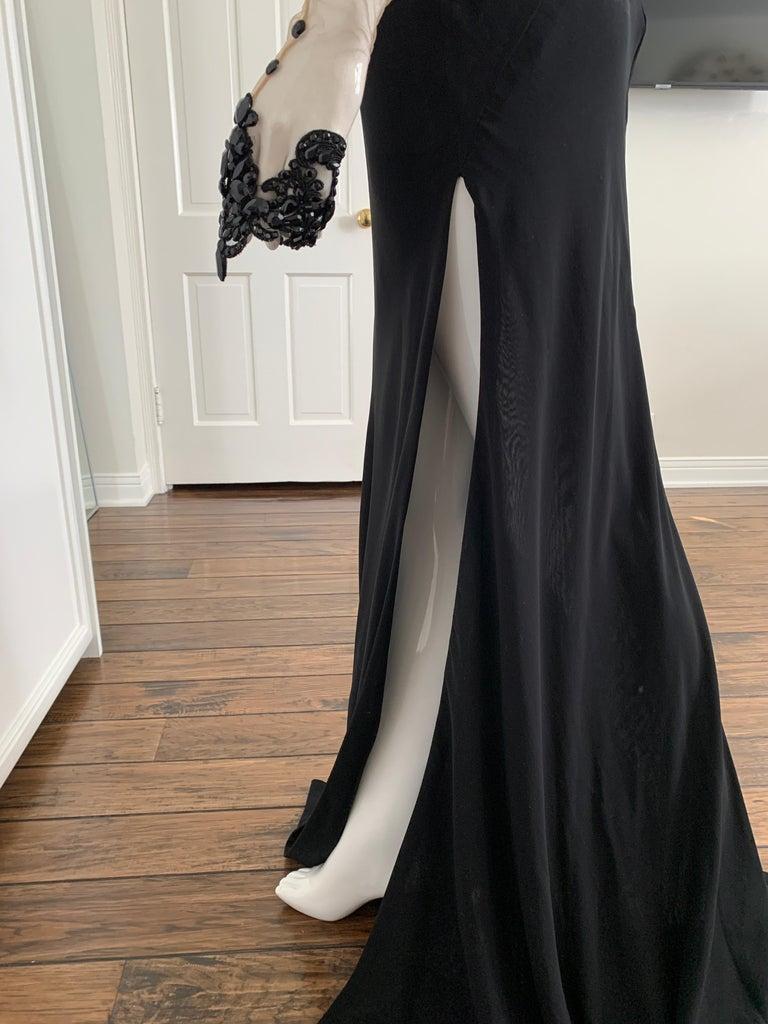 Galia Lahav Haute Couture Black Beaded Gown  3