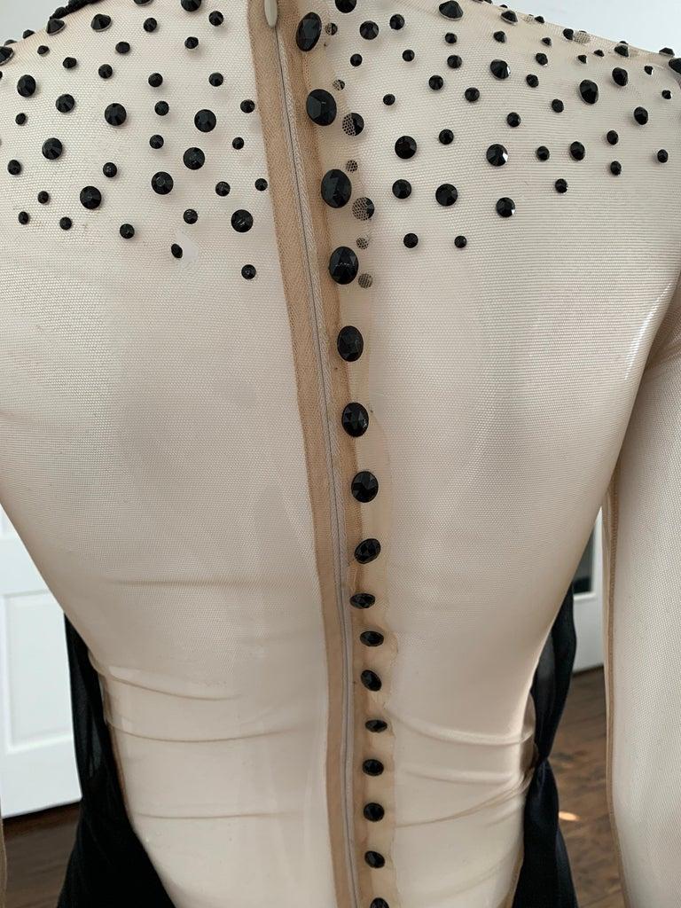 Galia Lahav Haute Couture Black Beaded Gown  5