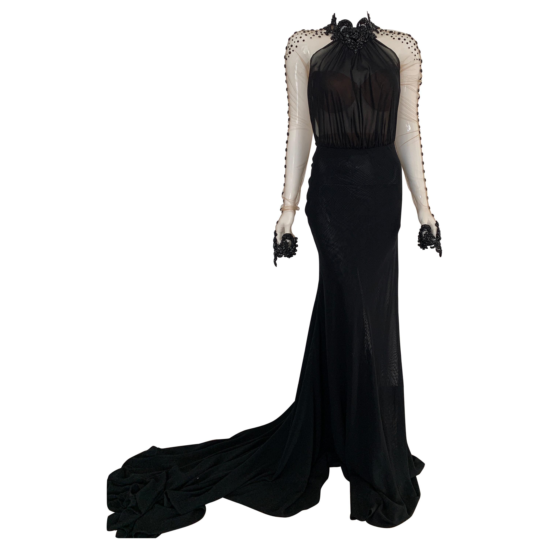 Galia Lahav Haute Couture Black Beaded Gown