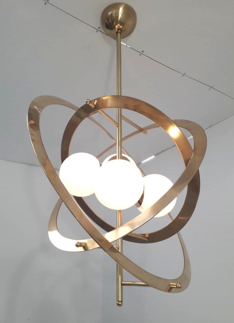 Italian Galileo Chandelier by Fabio Ltd. For Sale