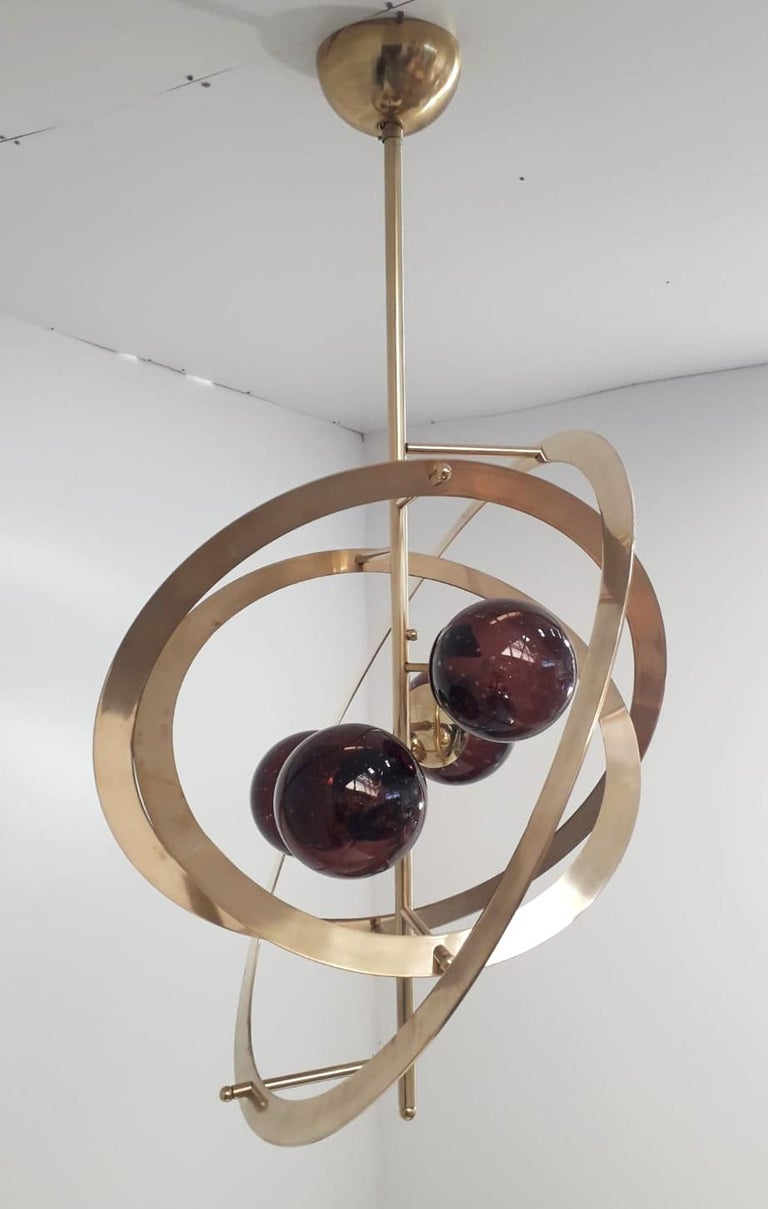 Galileo Chandelier by Fabio Ltd In Excellent Condition For Sale In Palm Springs, CA