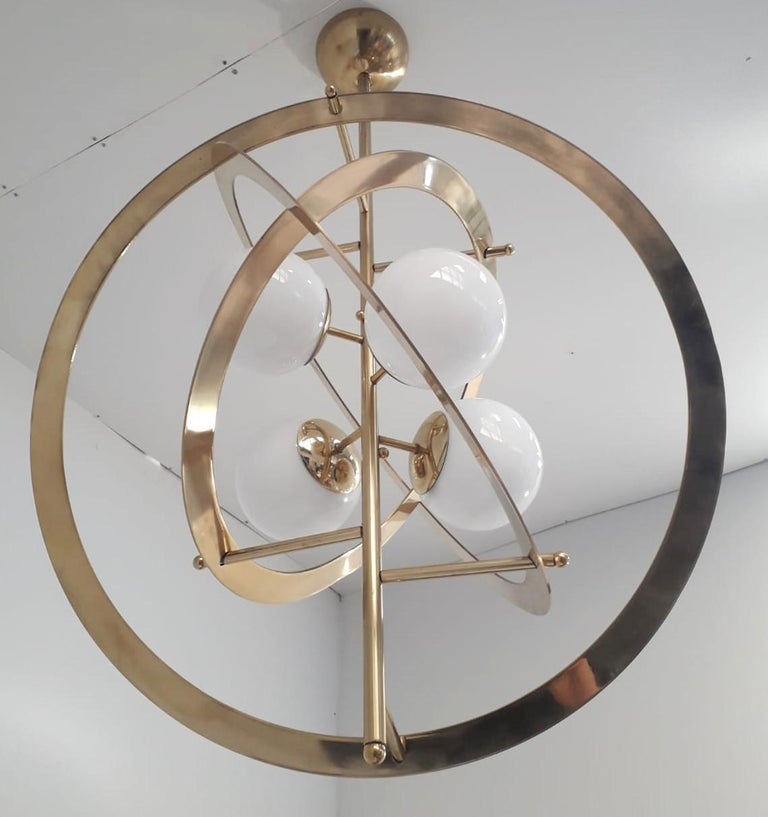 Galileo Chandelier by Fabio Ltd. In Excellent Condition For Sale In Palm Springs, CA
