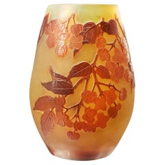 Galle Cameo Cherry Blossom Vase