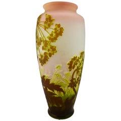 Galle Cameo Glass Monumental Allium Vase, circa 1900s