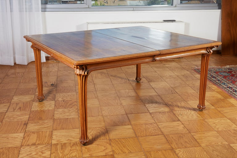 Wood Galle Large Dining Room Table For Sale
