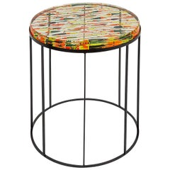 Galleggianti Side Table in Multi-Color Resin and Metal by Emanuela Crotti