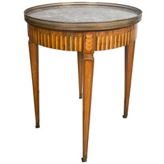 Galleried Marble-Top Bouillat or Guéridon Table