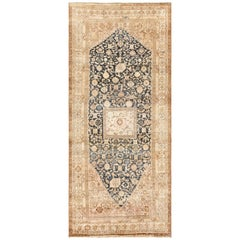 Gallery Size Antique Tribal Persian Malayer Rug. Size: 7 ft x 15 ft 7 in