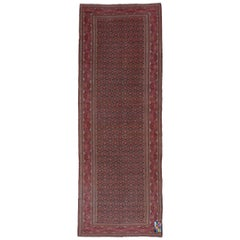 Persian Antique Khorassan Carpet, Red Field