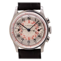 Gallet Millitary Style Chronograph Stainless Steel, circa 1940s