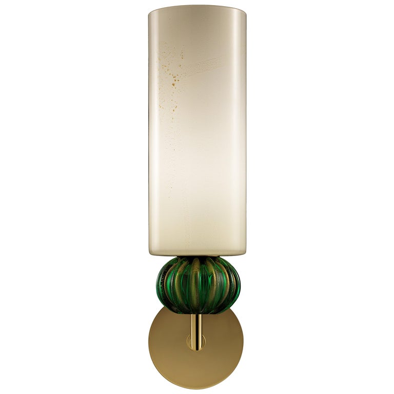 For Sale: Green (Beige Gold/Gold Green_OW) Gallia 5627 Wall Sconce in Glass, by Barovier & Toso