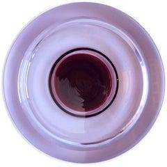 Galliano Ferro Murano Purple Alexandrite Italian Art Glass Hovering UFO Bowl