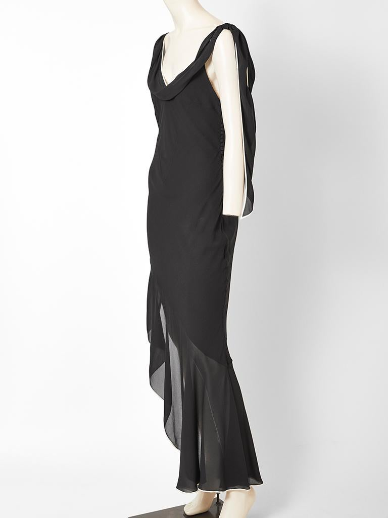 Galliano for Dior Bias Cut Dress with Asymmetric Hem In Good Condition For Sale In New York, NY