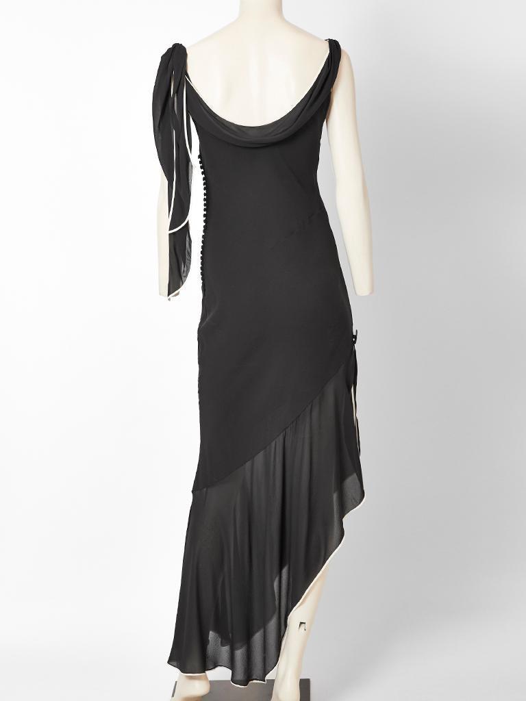 Women's Galliano for Dior Bias Cut Dress with Asymmetric Hem For Sale