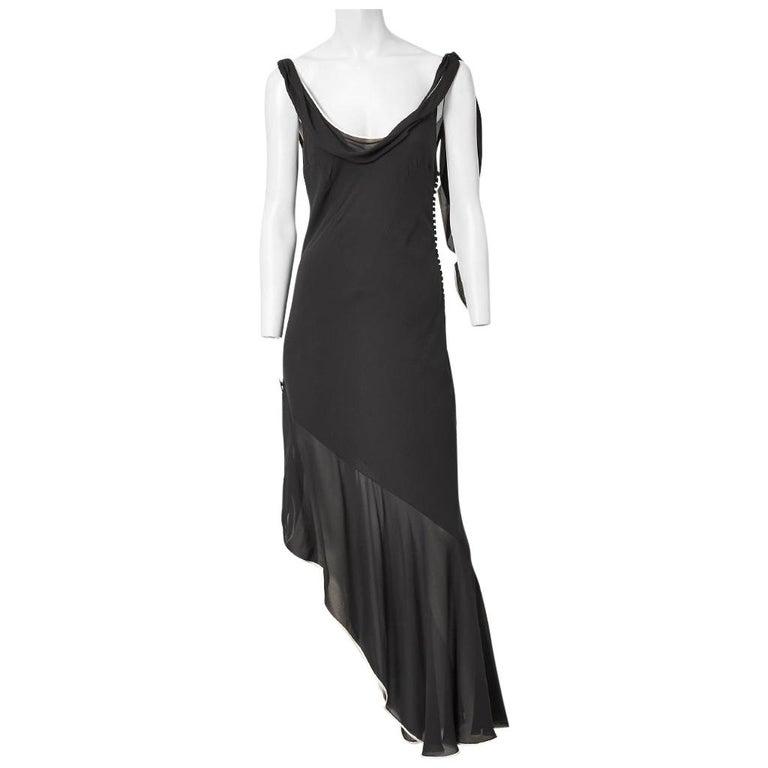 Galliano for Dior Bias Cut Dress with Asymmetric Hem For Sale
