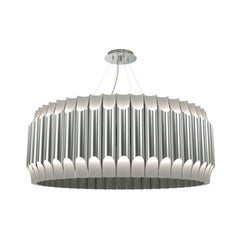 Galliano Round Chandelier in Steel
