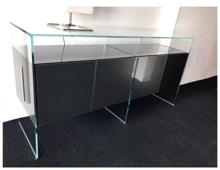 Gallotti & Radice Glass Modular System Air Unit Storage For Sale 5