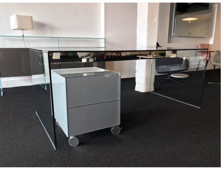 Modern Gallotti & Radice Glass Modular System Air Unit Storage For Sale