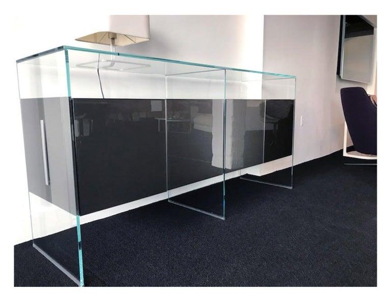 Italian Gallotti & Radice Glass Modular System Air Unit Storage For Sale