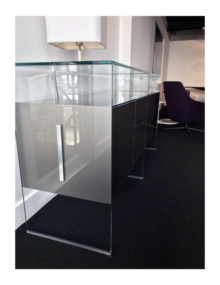Gallotti & Radice Glass Modular System Air Unit Storage In Good Condition For Sale In New York, NY