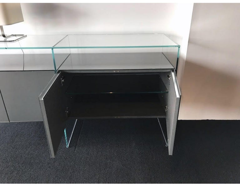 Contemporary Gallotti & Radice Glass Modular System Air Unit Storage For Sale