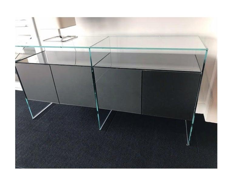 Gallotti & Radice Glass Modular System Air Unit Storage For Sale 3