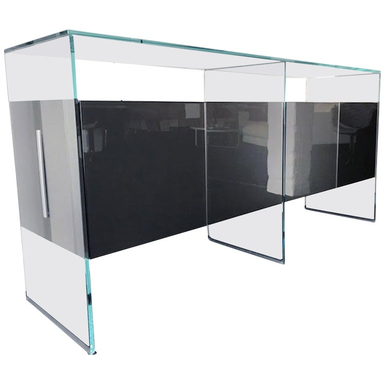 Gallotti & Radice Glass Modular System Air Unit Storage For Sale