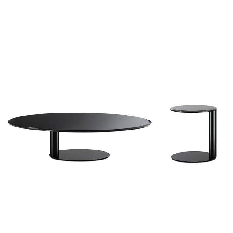 Italian Gallotti & Radice Oto Mini Glass Coffee and Side Table For Sale