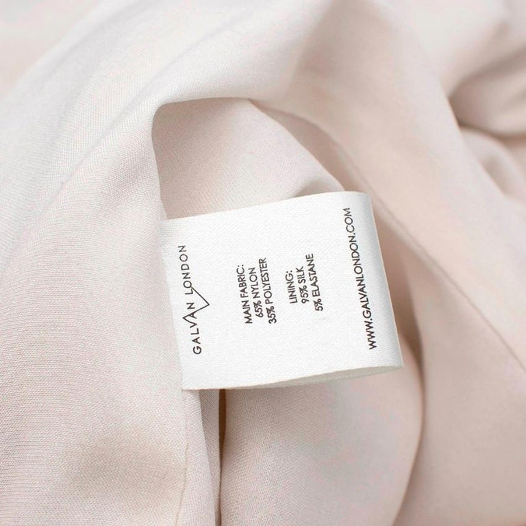 Galvan London Paillette White & Chartreuse Sequin Column Gown - Size US 6 For Sale 4