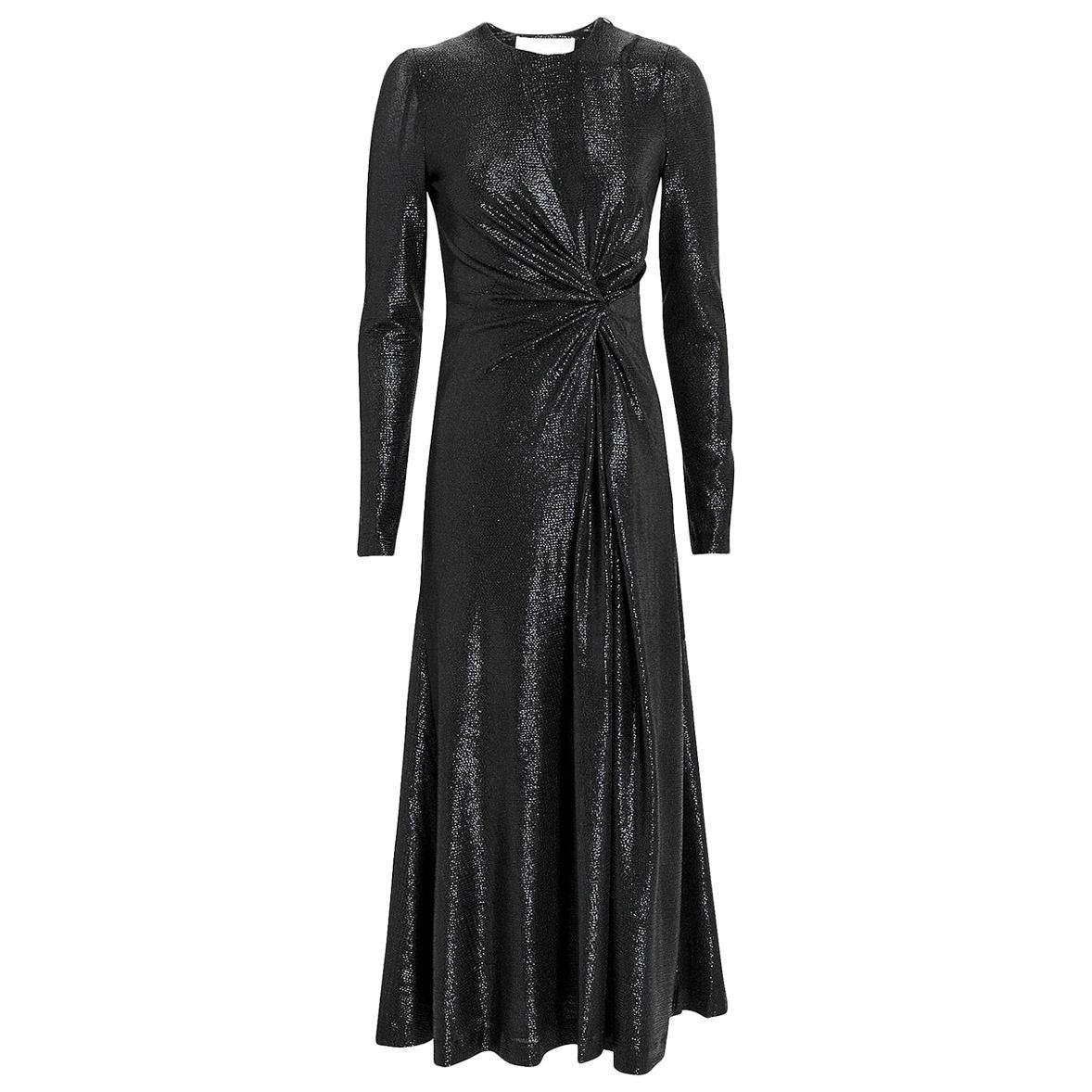 Galvan London Pinwheel Twisted Textured Midi Dress