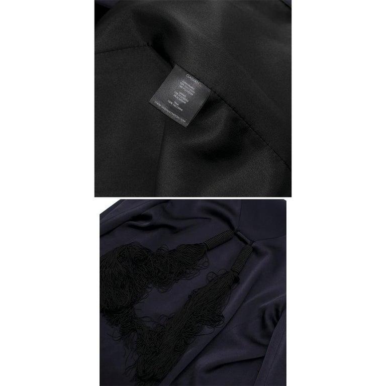 Galvan navy fringed jacket - Size M For Sale 5