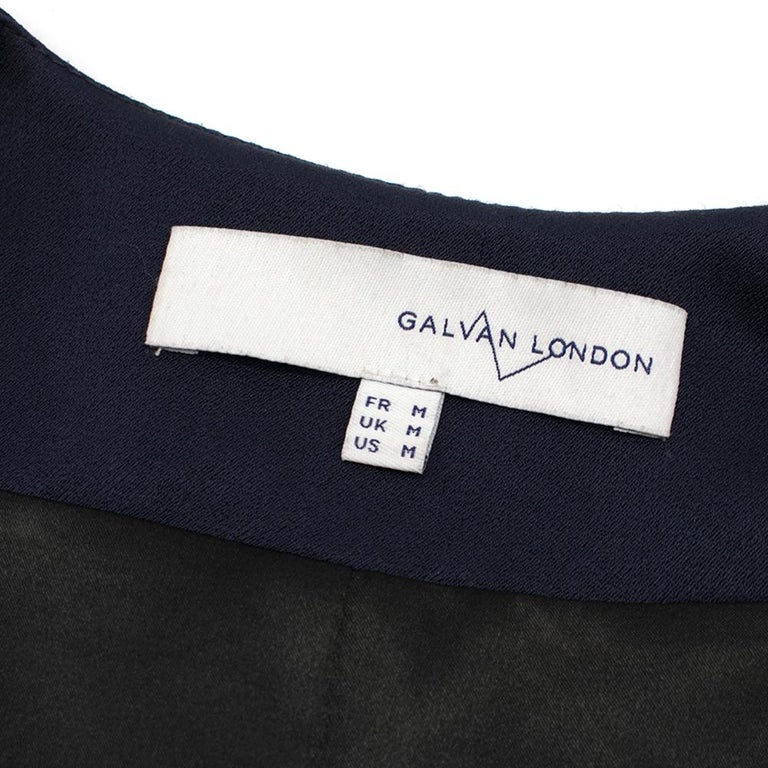Galvan navy fringed jacket - Size M For Sale 1