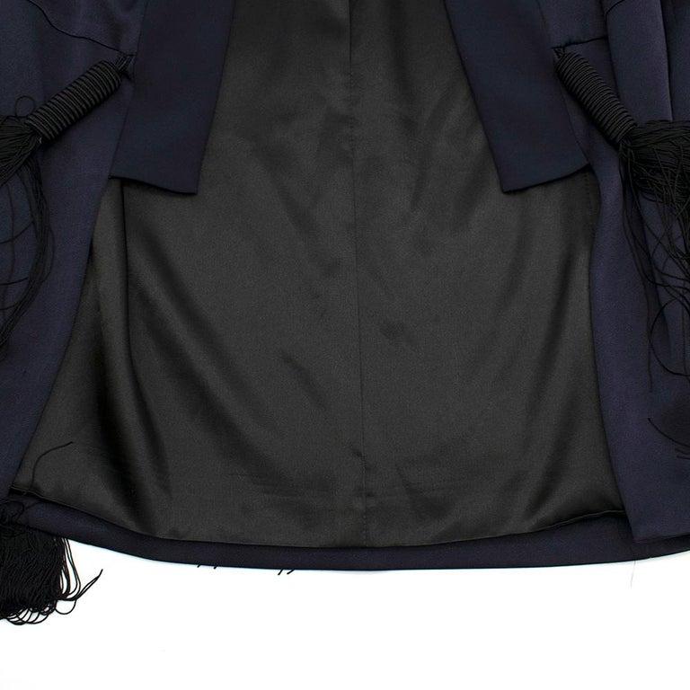 Galvan navy fringed jacket - Size M For Sale 2