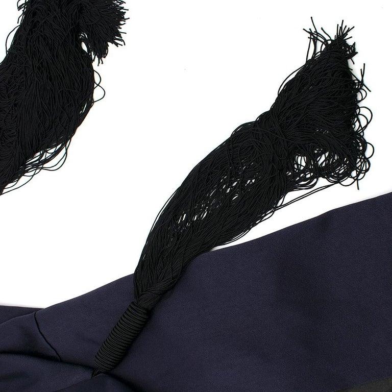 Galvan navy fringed jacket - Size M For Sale 3