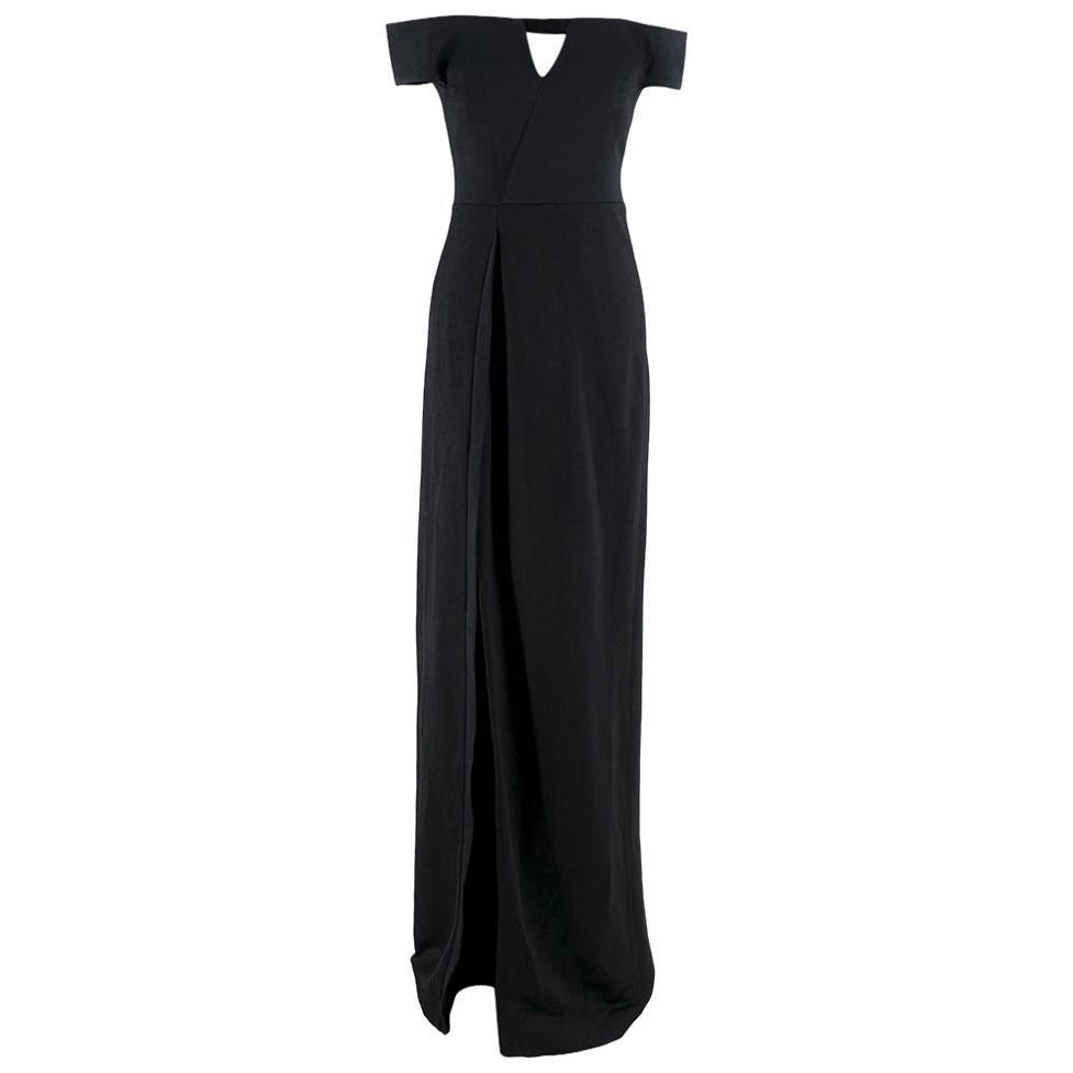 Galvan Satin Back Crepe Off-The-Shoulder Gown - Size US 6