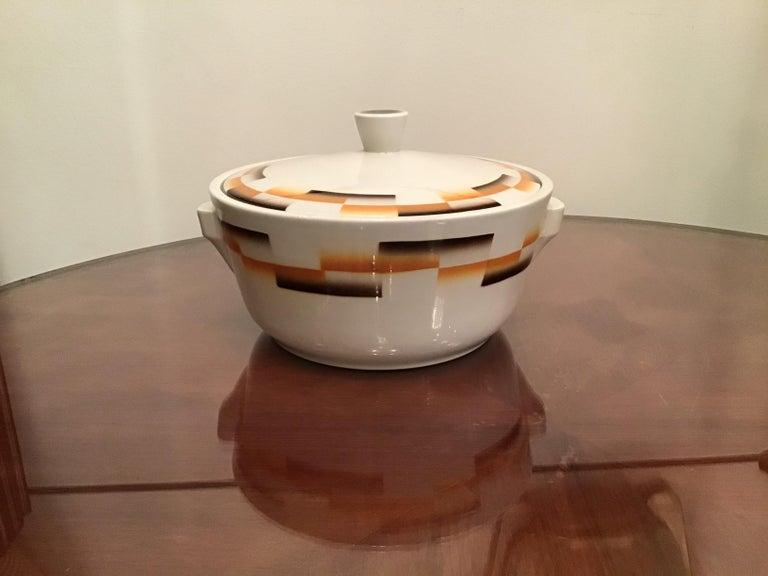 Galvani Pordenone Centerpiece Soup Tureen Ceramic, 1930, Italy For Sale 4