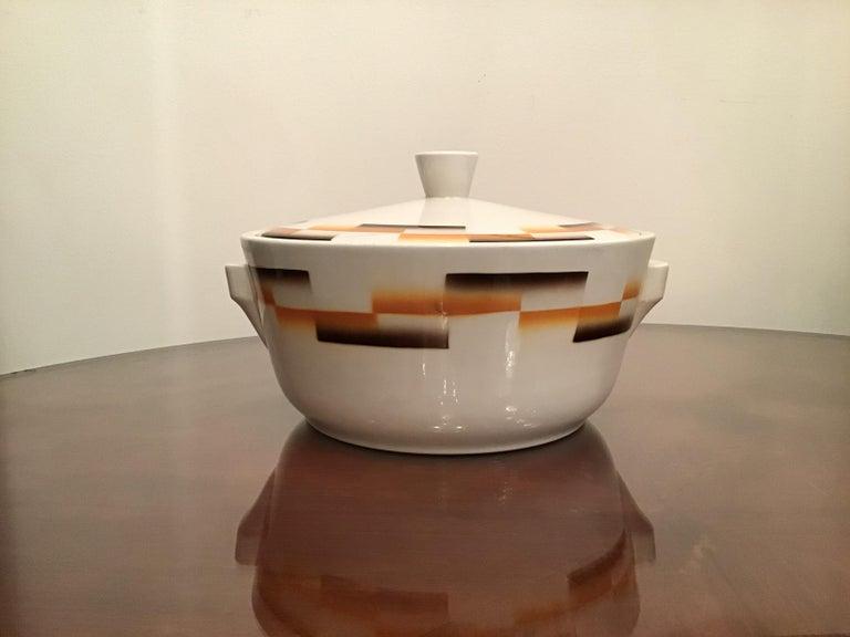 Galvani Pordenone Centerpiece Soup Tureen Ceramic, 1930, Italy For Sale 5
