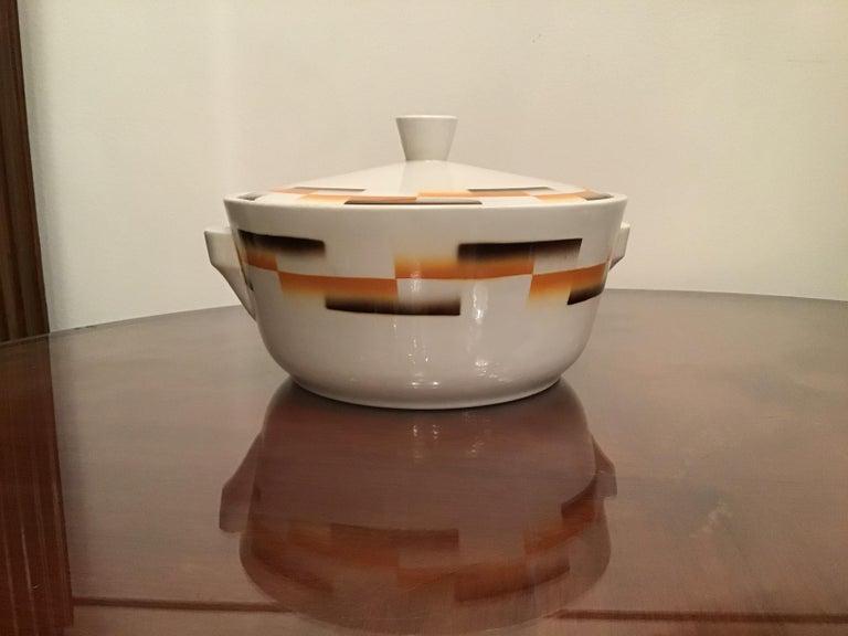 Galvani Pordenone Centerpiece Soup Tureen Ceramic, 1930, Italy For Sale 6