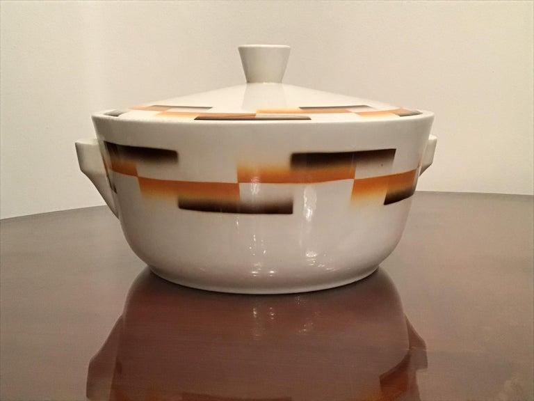 Galvani Pordenone Centerpiece Soup Tureen Ceramic, 1930, Italy For Sale 7