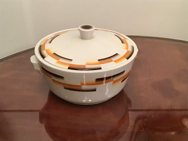Galvani Pordenone Centerpiece Soup Tureen Ceramic, 1930, Italy For Sale 8