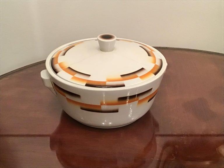 Galvani Pordenone Centerpiece Soup Tureen Ceramic, 1930, Italy For Sale 9