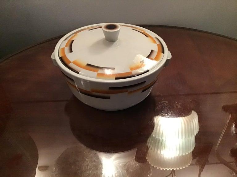 Galvani Pordenone Centerpiece Soup Tureen Ceramic, 1930, Italy For Sale 1