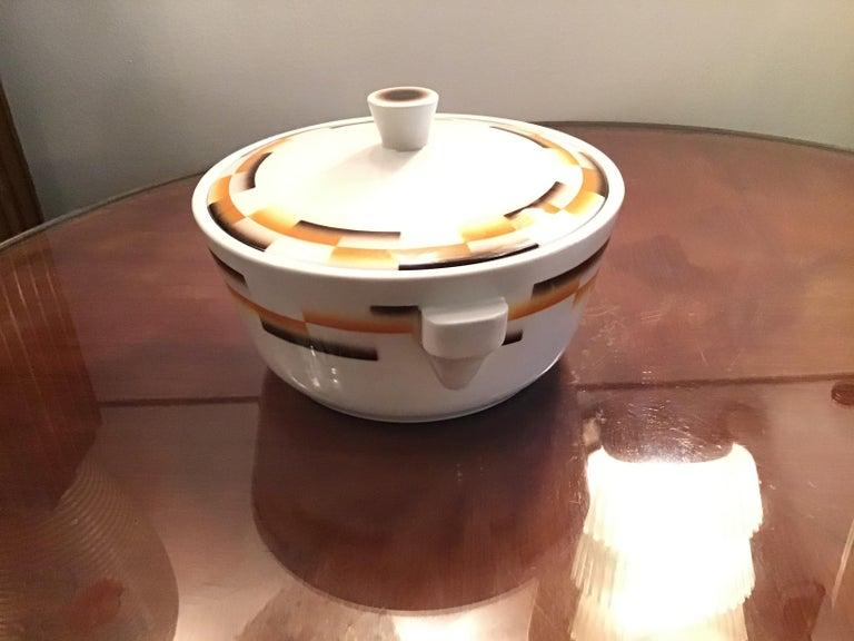 Galvani Pordenone Centerpiece Soup Tureen Ceramic, 1930, Italy For Sale 2