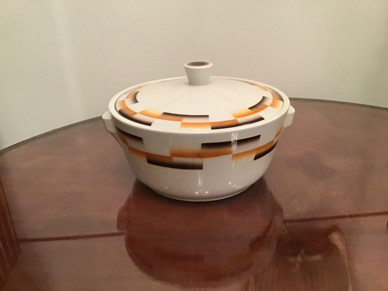 Galvani Pordenone Centerpiece Soup Tureen Ceramic, 1930, Italy For Sale 3