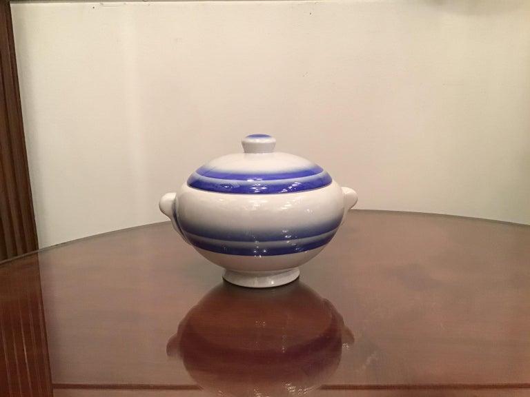 Galvani Pordenone Soup Tureen Centerpiece 1930 Ceramic, Italy For Sale 4