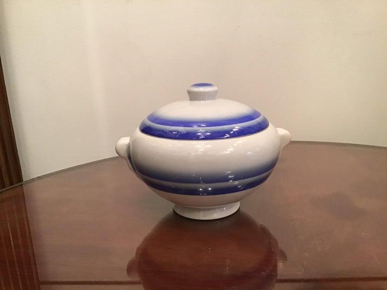 Galvani Pordenone Soup Tureen Centerpiece 1930 Ceramic, Italy For Sale 5