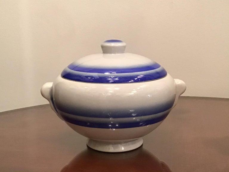 Galvani Pordenone Soup Tureen Centerpiece 1930 Ceramic, Italy For Sale 6