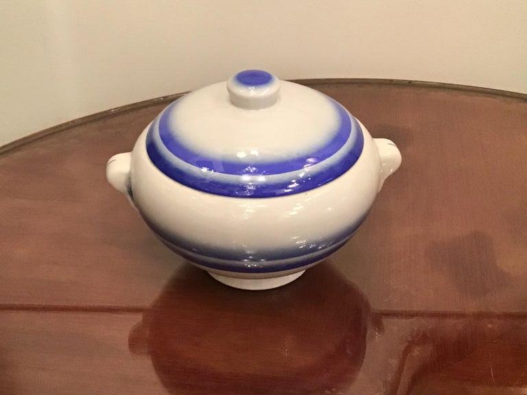 Galvani Pordenone Soup Tureen Centerpiece 1930 Ceramic, Italy For Sale 11